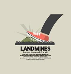 Foot step on landmines vector