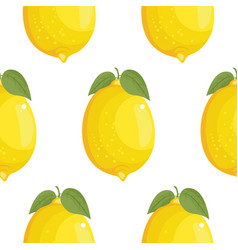 fresh large lemons background hand drawn icons vector image vector image