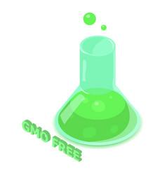 Gmo allergen free icon isometric style vector