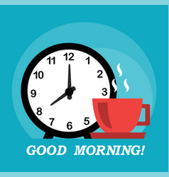 good morning and coffee vector image