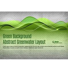 Green water background vector