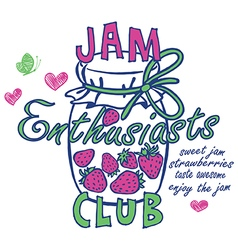 jam enthusiasts print vector image vector image