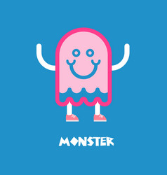 kids monster logo vector image
