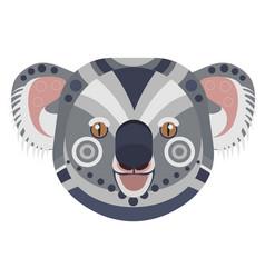 Koala head logo exotic bear decorative vector
