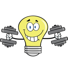 Light bulb with gym muscles vector image vector image
