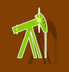 Paper sticker on theme arabic business oil derrick vector