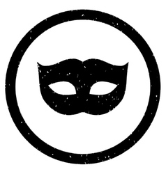 Privacy mask icon rubber stamp vector