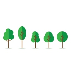 Set of abstract stylized trees vector image