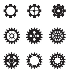 set of gears vector image vector image
