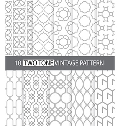 Two tone vintage style seamless pattern vector image vector image