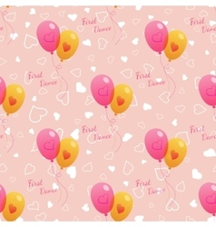 Wedding seamless pattern with balloons vector image vector image