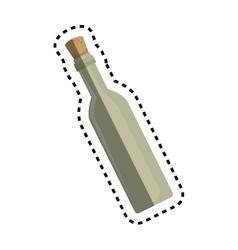 Wine bottle kitchen tool isolated icon vector