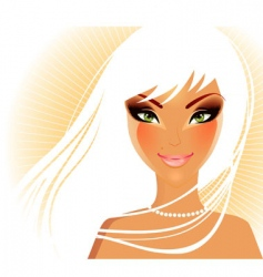 women face blond vector image vector image
