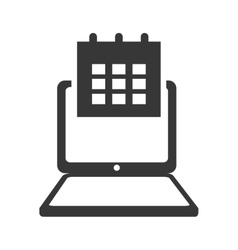 Laptop gadget technology icon graphic vector
