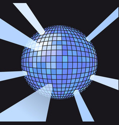 Sphere disco ball vector