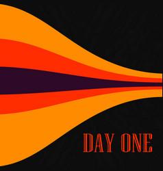 Red orange lines on black cover print bended vector