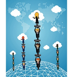 Global business teamwork success people vector