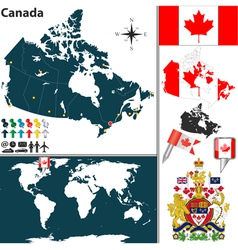 Canada map world vector