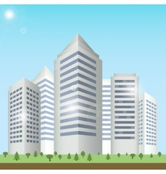 Modern buildings cityscape vector
