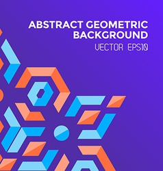 Abstract geometric blue orange red jewels violet vector