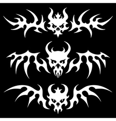 Death skulls wings vector