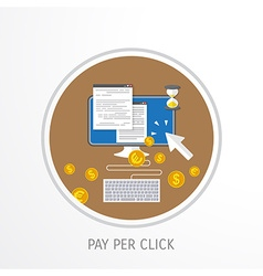 Pay per click concept vector