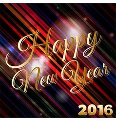 Happy New Year 2016 background vector image