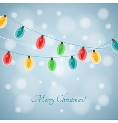 Colourful glowing christmas lights vector