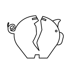 Piggy icon money and financial item design vector