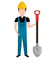 Avatar construction man graphic vector