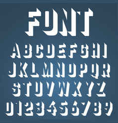 Alphabet font incomplete design vector
