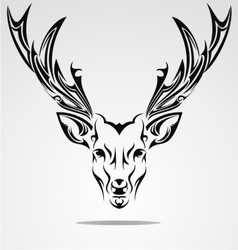 Artistic deer head vector