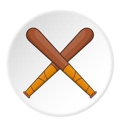 Baseball bats icon flat style vector image