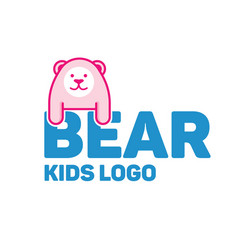 Bear logo for kid and children vector