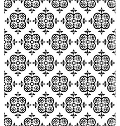 black decorative seamless pattern vector image