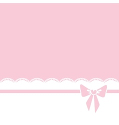 bow and lace border vector image vector image