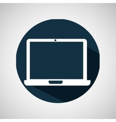 cartoon laptop technology screen icon vector image