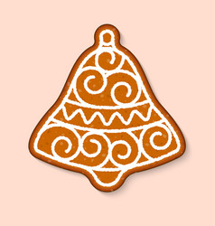 christmas cookie bell cake sweet desserts vector image