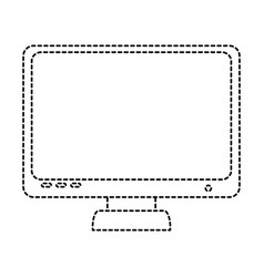 computer display isolated icon vector image vector image