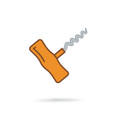 Corkscrew sign icon vector