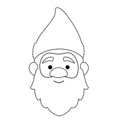 cute gnome head character vector image