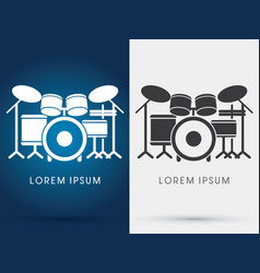 Drum set music vector
