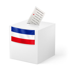 Election in yugoslavia ballot box with voicing vector