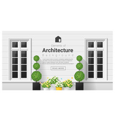 elements of architecture window background 19 vector image vector image