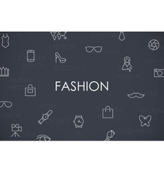 Fashion Thin Line Icons vector image