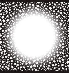frame with stars vector image