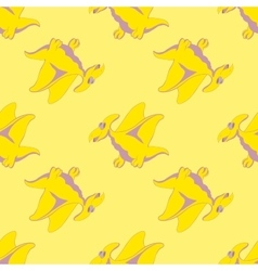 Funny flying lizard vector