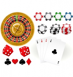 gambling goodies vector image vector image