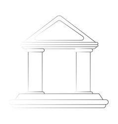 Greek building symbol vector