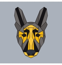 Grey and yellow low poly dog vector image